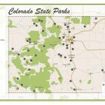 Colorado State Parks Map | Etsy Intended For Colorado State Parks Map