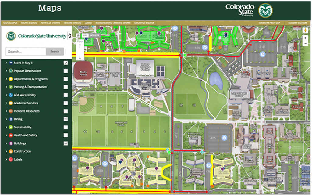 Colorado State U Launches Interactive Map -- Campus Technology within Colorado State Campus Map