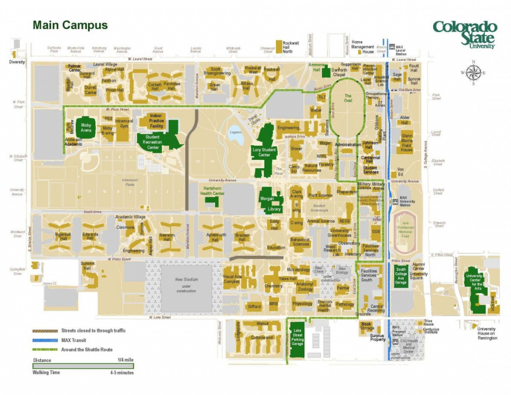 Colorado State University Fort Collins Campus Map | Tjalk inside Colorado State Campus Map