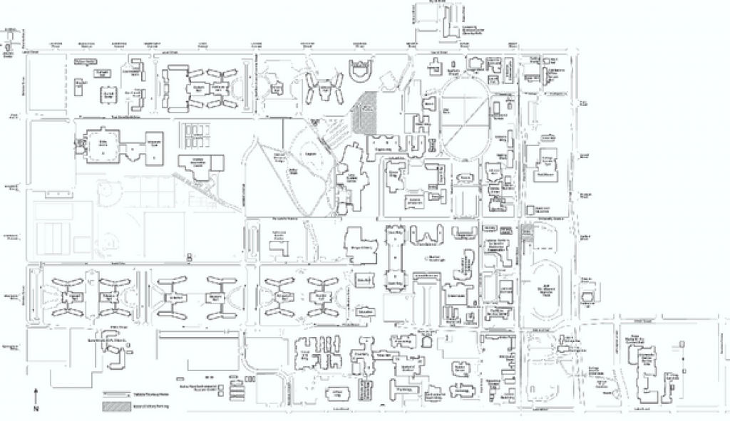Colorado State University Map - Fort Collins Co • Mappery pertaining to Colorado State Campus Map