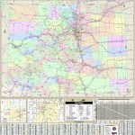Colorado State Wall Map   Maps In Colorado State Driving Map