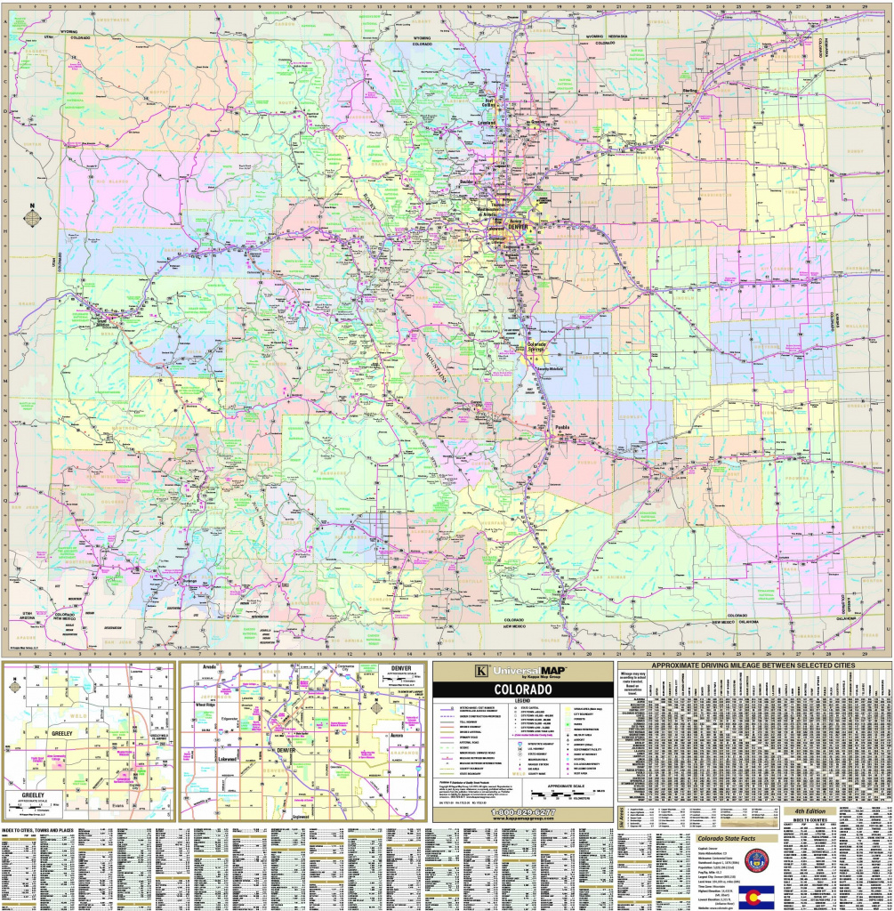 Colorado State Wall Map - Maps in Colorado State Driving Map