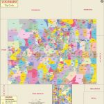 Colorado Zip Code Map, Colorado Postal Code Inside Colorado State Map With Counties And Cities