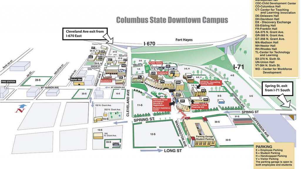 Columbus State Community College Buys Downtown Student Parking Lots within Columbus State Campus Map