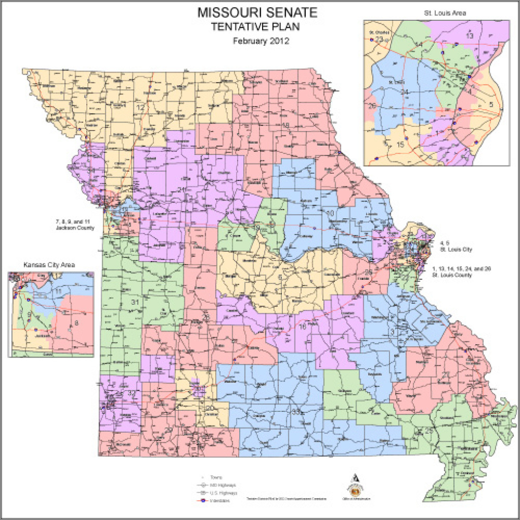 Commission Approves New Missouri State Senate Districts | State News pertaining to Missouri State Senate District Map