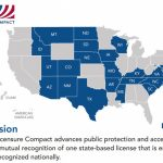 Compact State Map   Go Healthcare Staffing Regarding Compact State Nursing Map