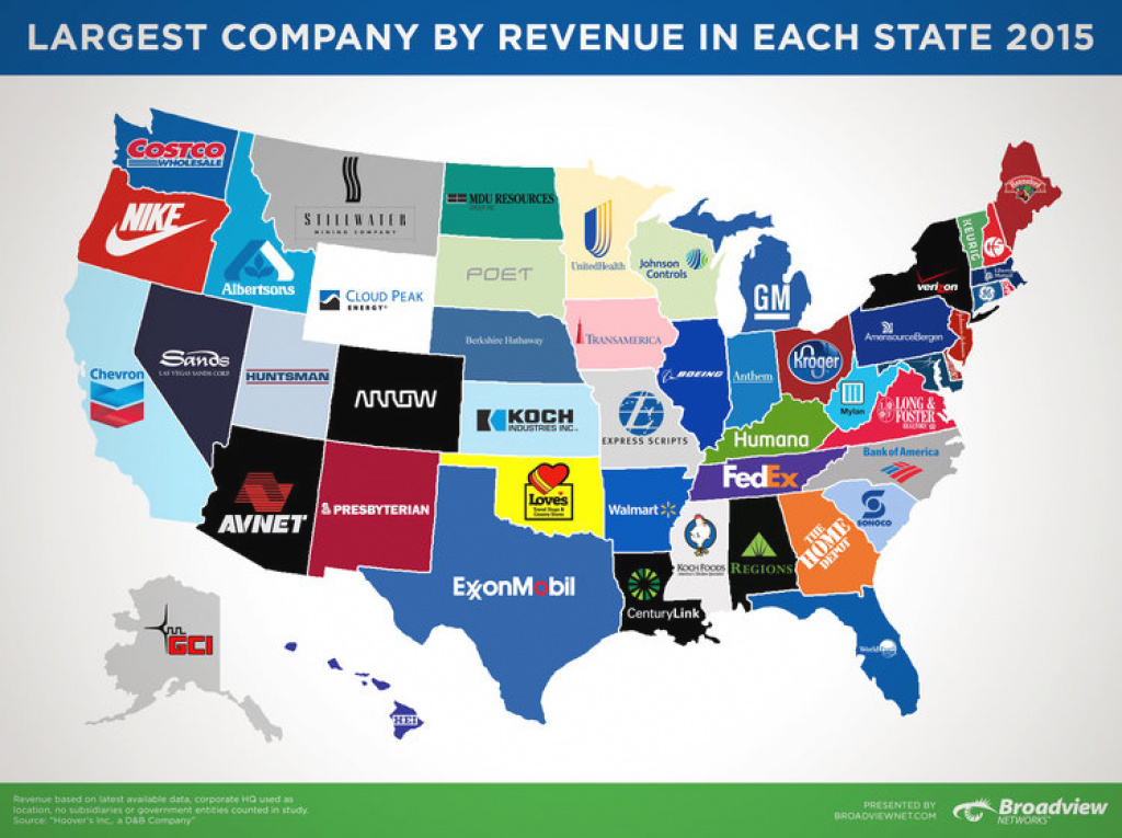 Company Revenue Map 2015 - Business Insider pertaining to State Of The Map Us 2015