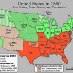 Compromise Of 1850 Slavery Fugitive Slave Law Compromise Map With Map Of Slavery In The United States