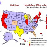Concealed Carry Law And Reciprocity Update From Handgunlaw   The Regarding Concealed Carry States Map 2016
