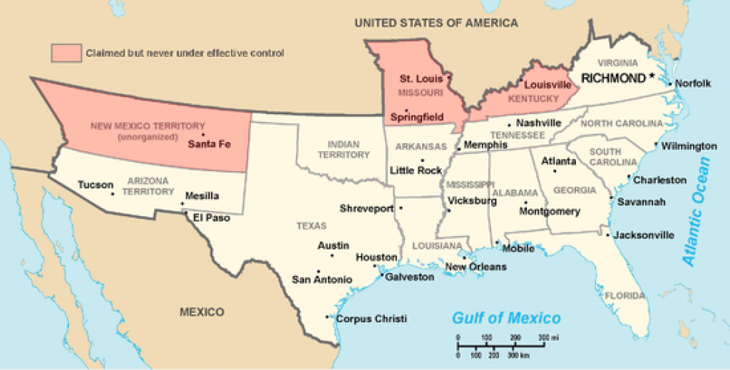 Confederate States Of America - Wikipedia within Confederate States Of America Map