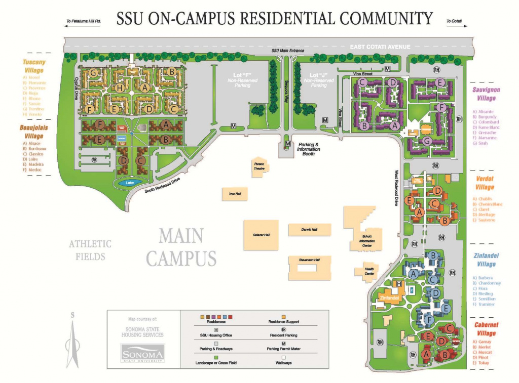 Conference & Events Services | Campus Maps: Sonoma State University in Sonoma State University Housing Map