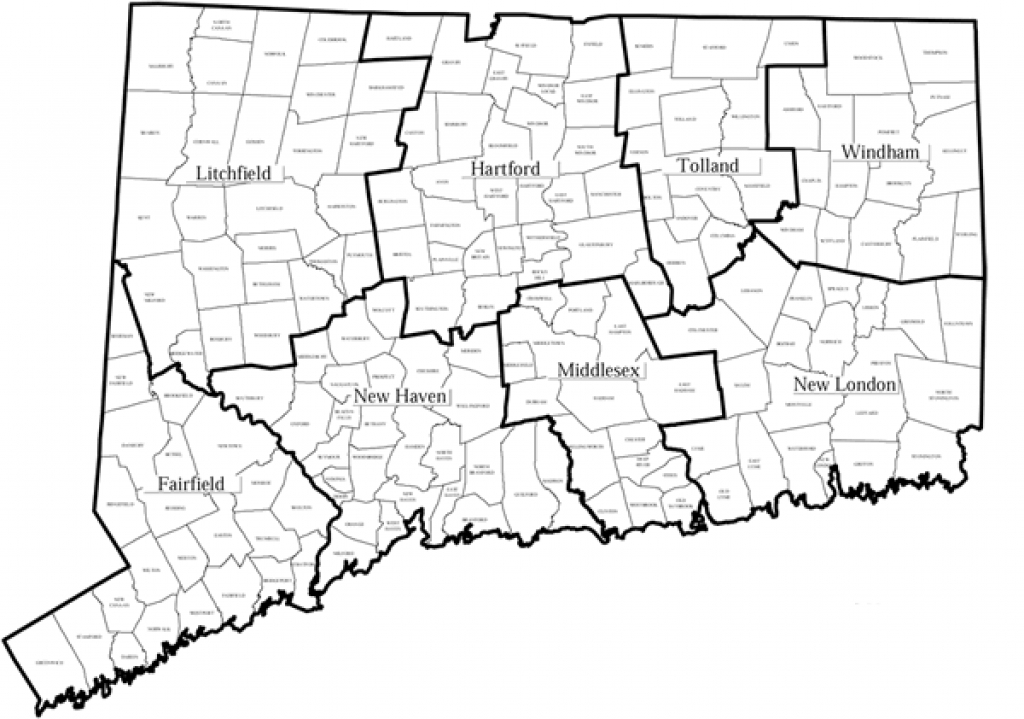 Connecticut County And Town Map with regard to State Of Ct Map With Towns