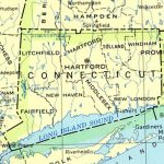 Connecticut Maps   Perry Castañeda Map Collection   Ut Library Online Pertaining To Connecticut State Map With Counties And Cities