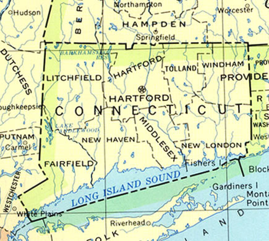 Connecticut Maps - Perry-Castañeda Map Collection - Ut Library Online pertaining to Connecticut State Map With Counties And Cities