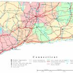 Connecticut Printable Map Within Connecticut State Map With Counties And Cities