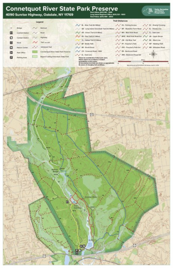 Connetquot River State Park Preserve Trail Map - New York State regarding Connetquot State Park Trail Map