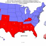 "Conrad Hackett On Twitter: ""blue States Have More People In College For Map Of Red States And Blue States 2016"