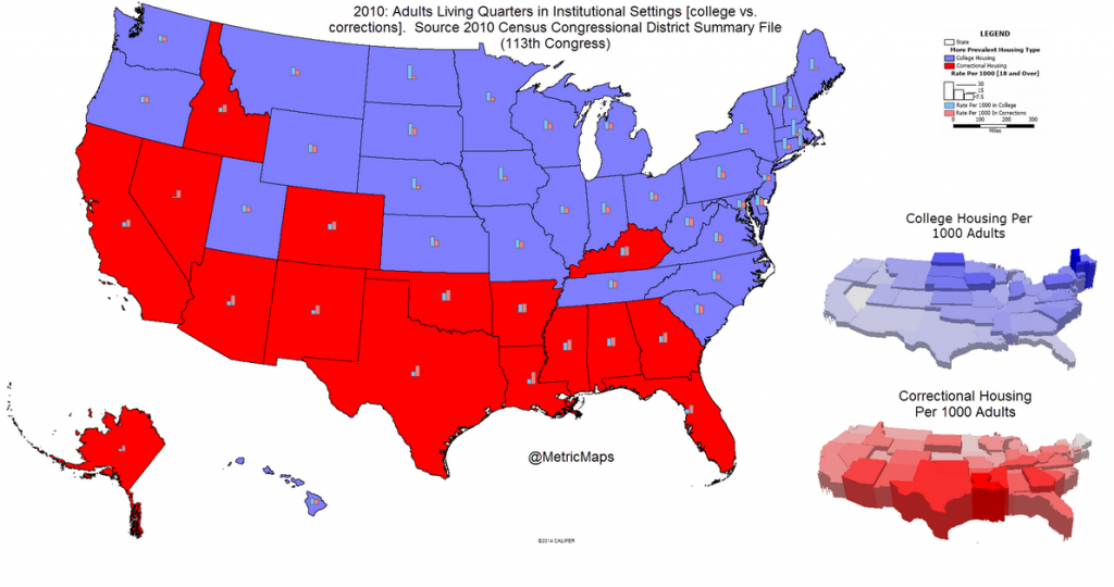 """Conrad Hackett On Twitter: """"blue States Have More People In College for Map Of Red States And Blue States 2016"""