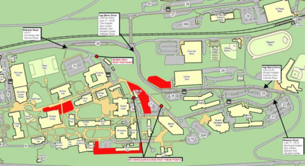 Construction Update For Week Of November 5 – University Facilities in Montclair State University Parking Map
