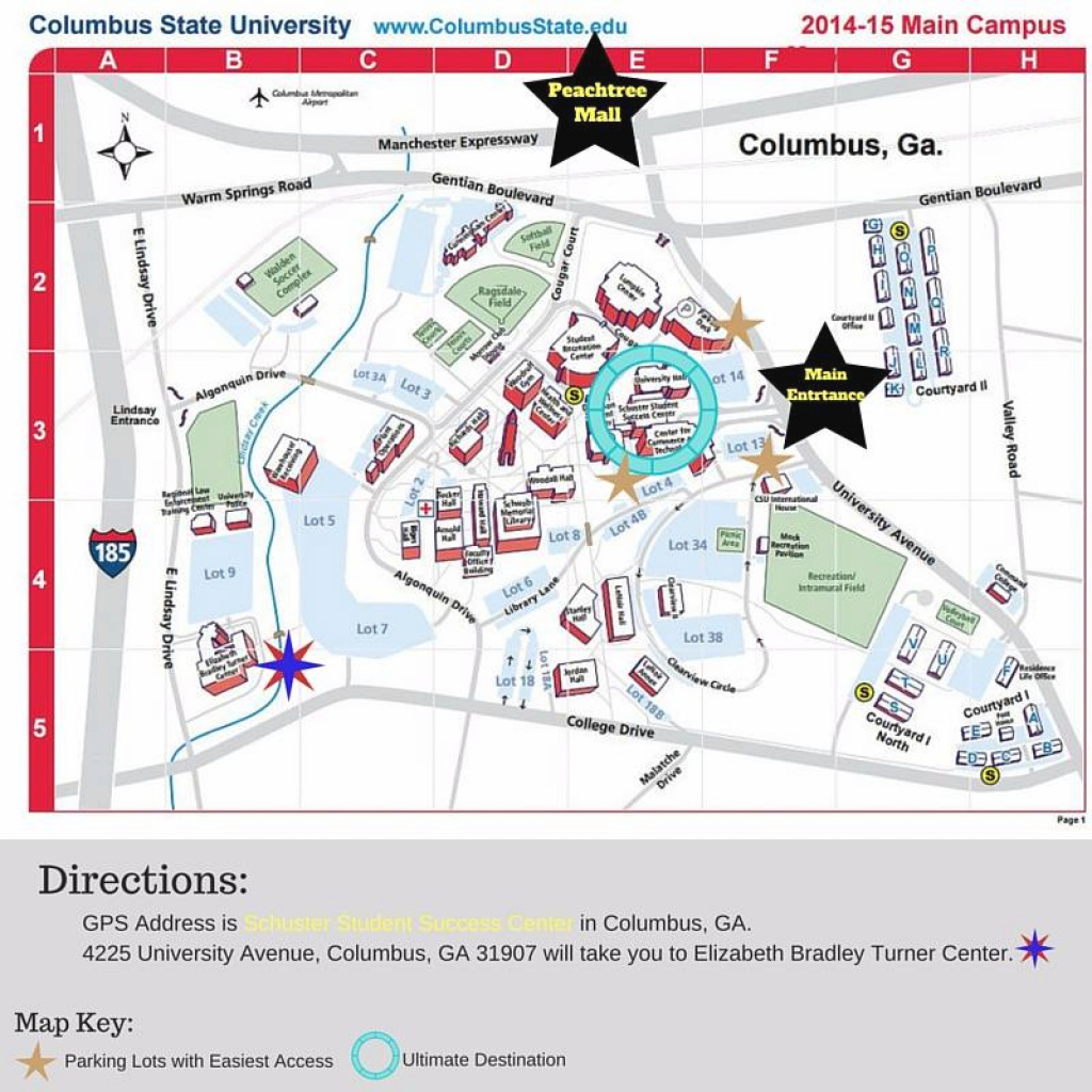 Contact Us throughout Columbus State Campus Map