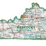 Counties Map With Cities County Of Us Kentucky Showing – Wineandmore Throughout Kentucky State Map With Cities And Counties