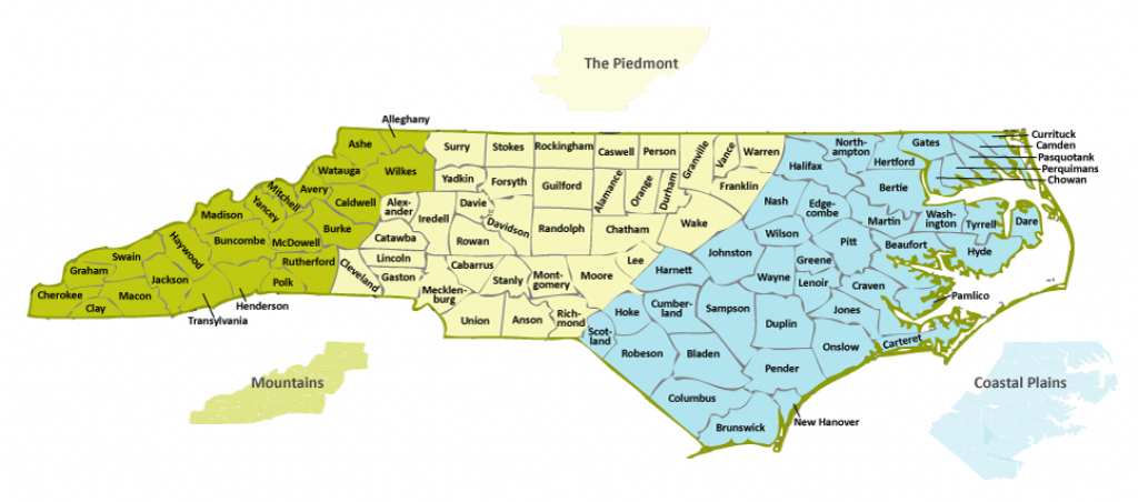 Counties | Ncpedia with regard to Nc State Map With Counties