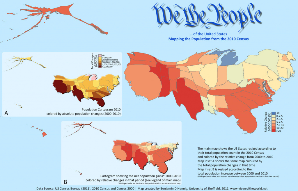 Counting The Us Population - Views Of The World within State Population Map