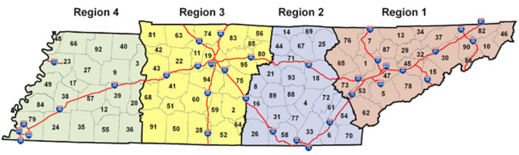 County Outline Map with Tennessee State Map With Counties