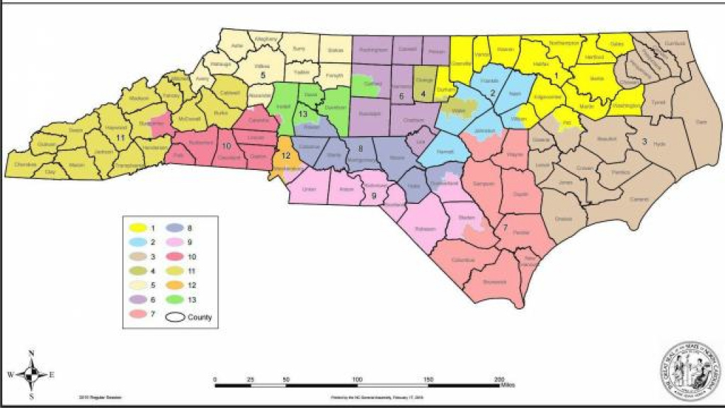 Court Throws Out Nc Congressional Map Again :: Wral with State Legislature Map 2016