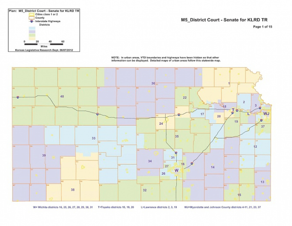 Court's Map Collapses Northern Kansas Senate District regarding Kansas State Senate Map