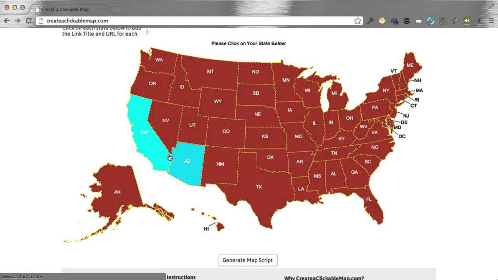 Create A Clickable (Html5) Us Map In Minutes! - Youtube throughout Create A State Map