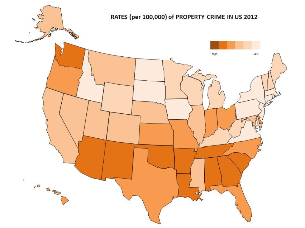 Crime Statistics In 2012: Where Does Virginia Stand? | Statchat intended for New York State Crime Map