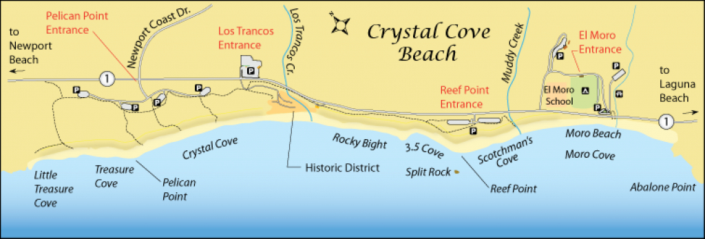 Crystal Cove Beach - California's Best Beaches with regard to Crystal Cove State Park Map