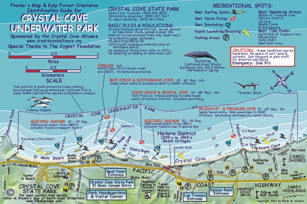 Crystal Cove | Franko's Fabulous Maps Of Favorite Places in Crystal Cove State Park Map