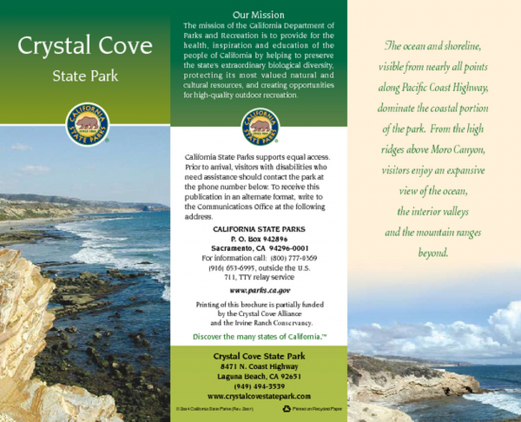 Crystal Cove State Park Map - 8471 N Coast Highway Laguna Beach Ca intended for Crystal Cove State Beach Map
