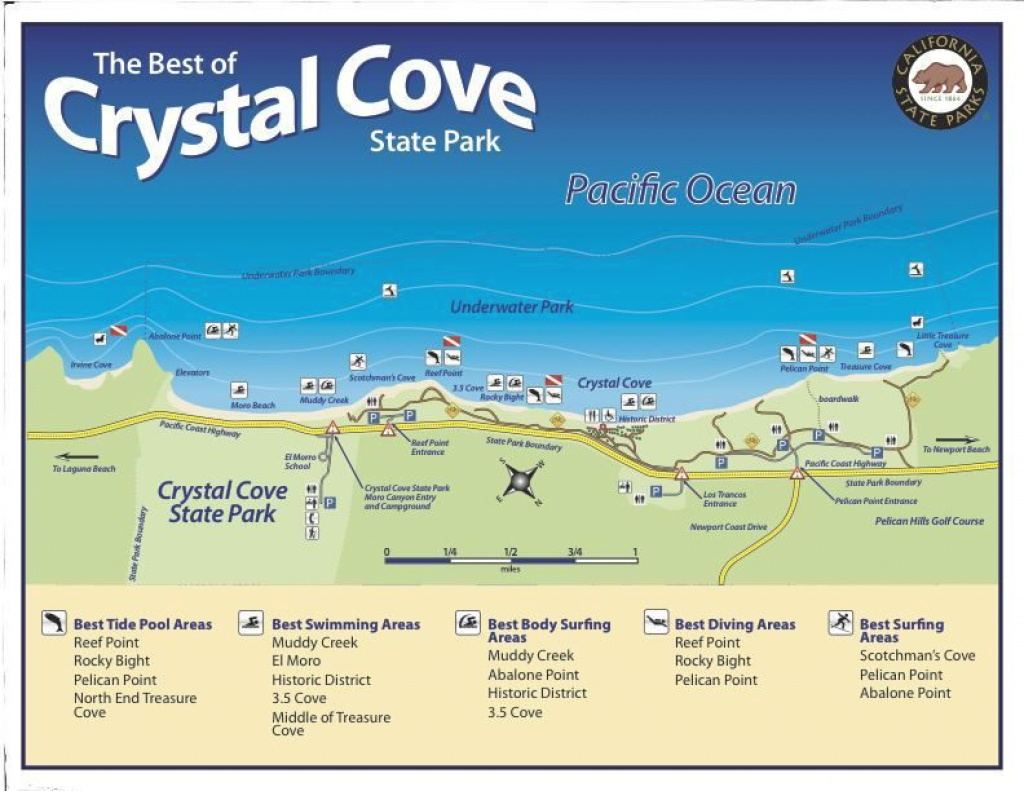 Crystal Cove State Park Map, California. | Leaving On A Jet Plane regarding Crystal Cove State Park Map