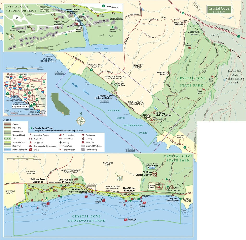 Crystal Cove State Park - Maplets pertaining to Crystal Cove State Beach Map