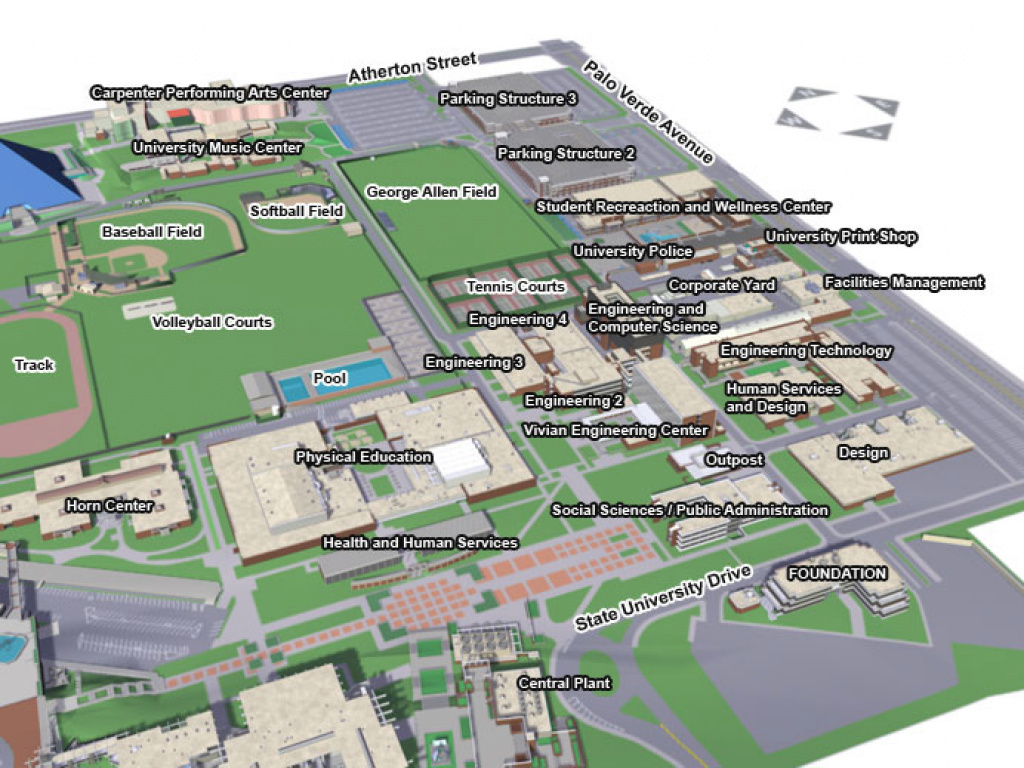 Csulb Campus Maps - East Campus with regard to Central State University Campus Map