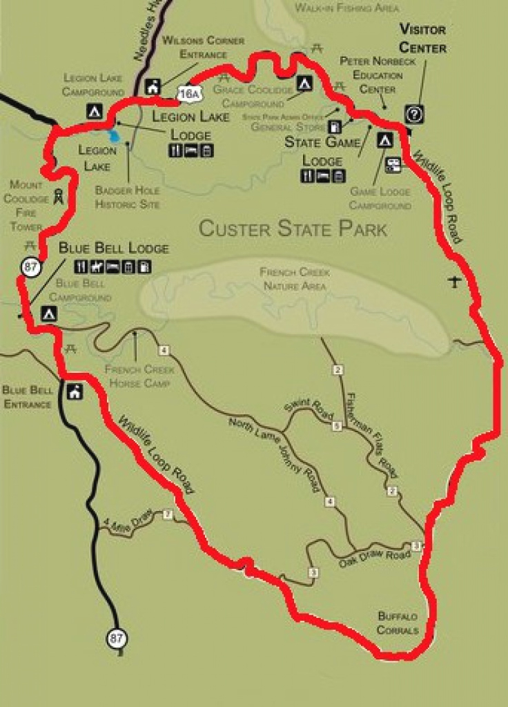 Custer State Park – Custer #south Dakota - Dantraun intended for Custer State Park Map