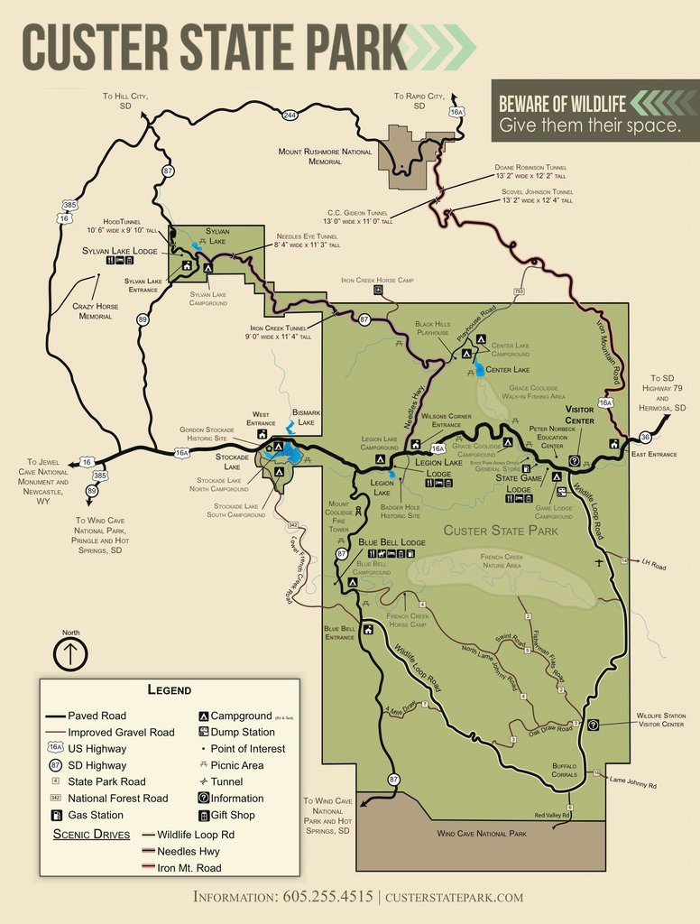 Custer State Park - Maplets within Custer State Park Map