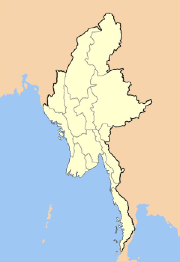 Dams In Myanmar - Wikipedia throughout Map Of Myanmar States And Regions