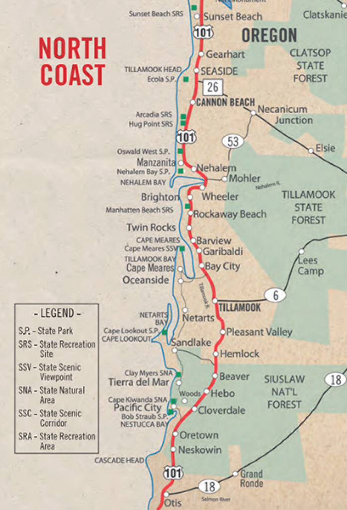 Day Trip Ideas | The Official Rockaway Beach Travel Guide in Tillamook State Forest Camping Map
