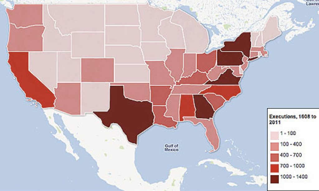 Death Penalty Statistics From The Us: Which State Executes The Most intended for Death Penalty States Map