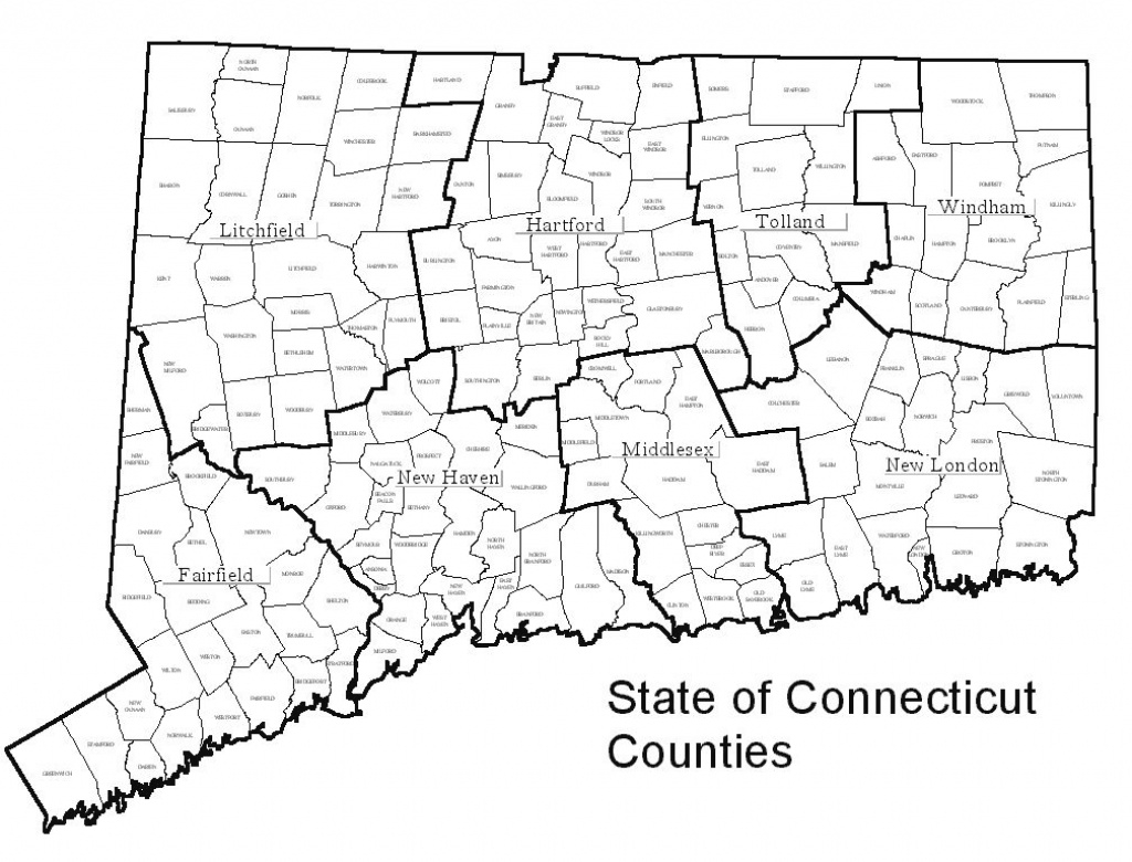 Decd: Connecticut Maps pertaining to Connecticut State Map With Counties And Cities
