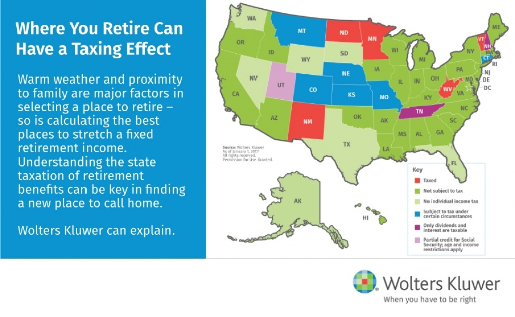 Deciding Where To Retire: Finding A Tax-Friendly State To Call Home intended for Tax Friendly States Map
