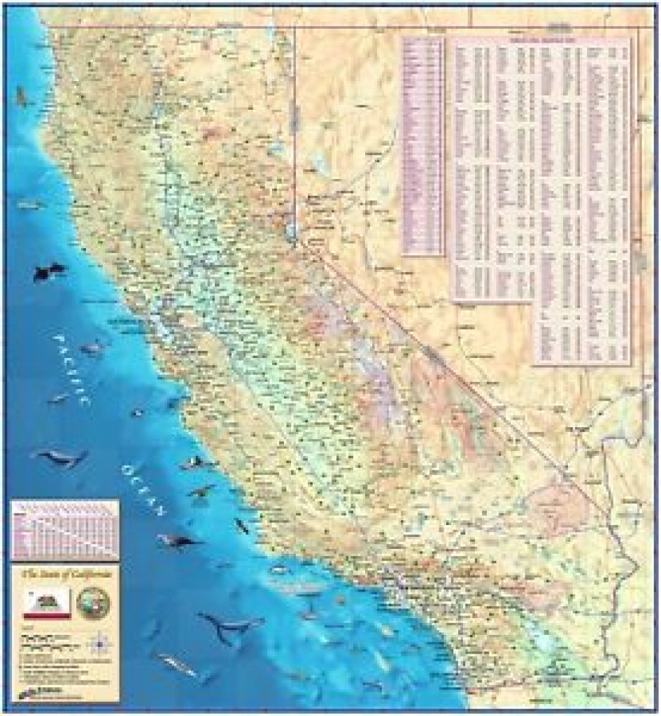 Decorative California State Wall Map (3 Sizes) Laminated | Ebay for State Wall Maps