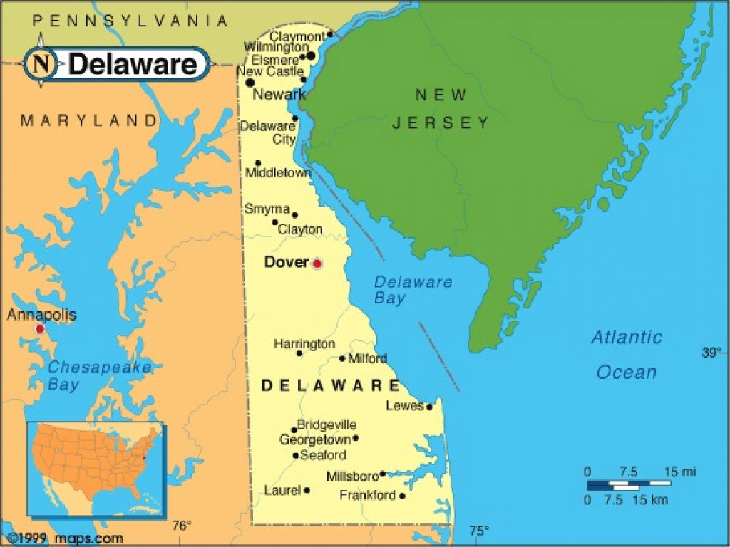 Delaware Map | Facts with regard to Map Of Delaware And Surrounding States