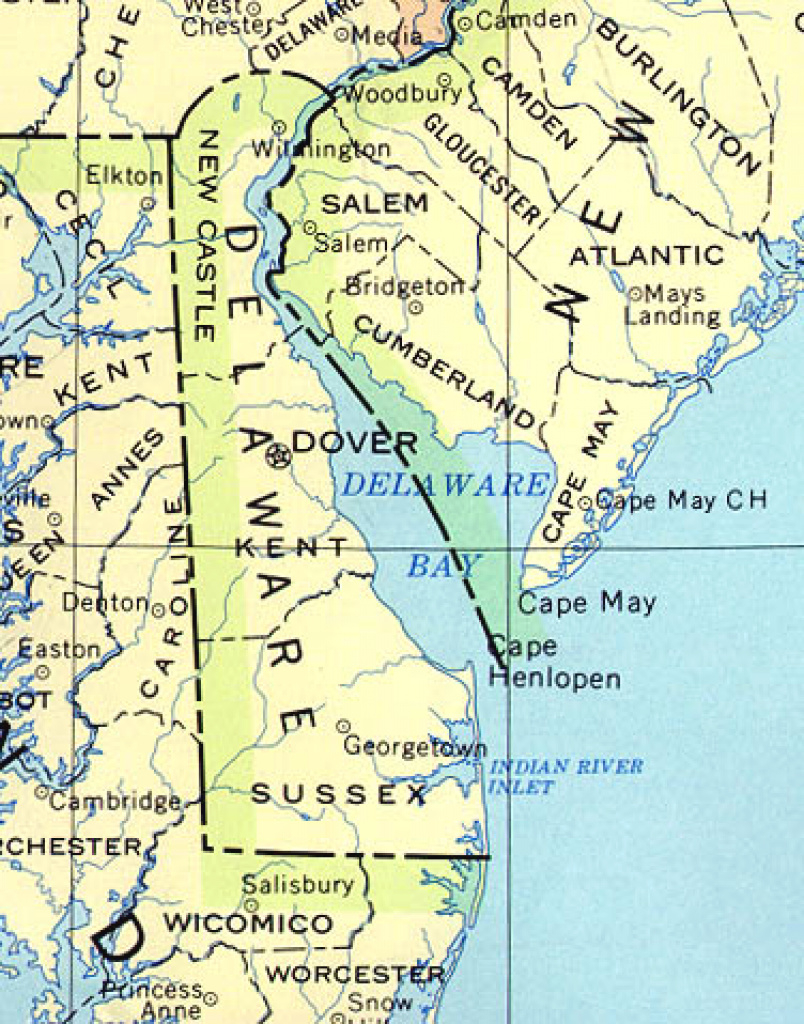 Delaware Maps - Perry-Castañeda Map Collection - Ut Library Online for Map Of Delaware And Surrounding States