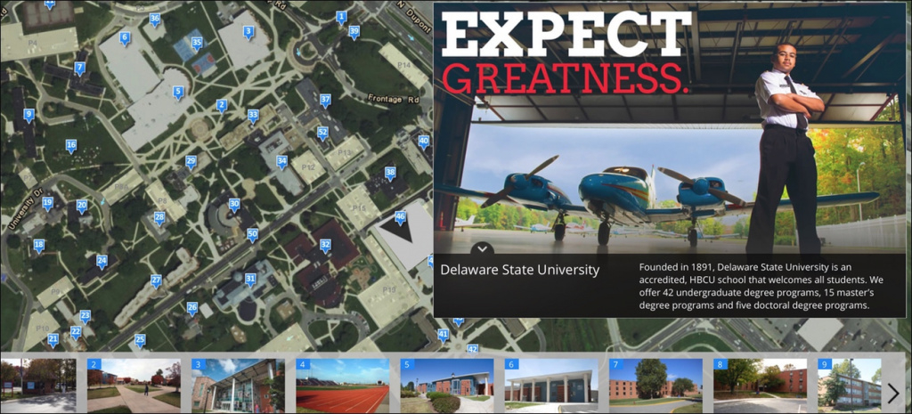 Delaware State University Campus Tour | Mapasyst with regard to Delaware State University Campus Map