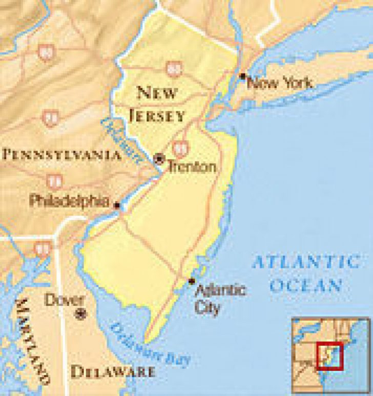 Tri State Map Ny Nj Pa